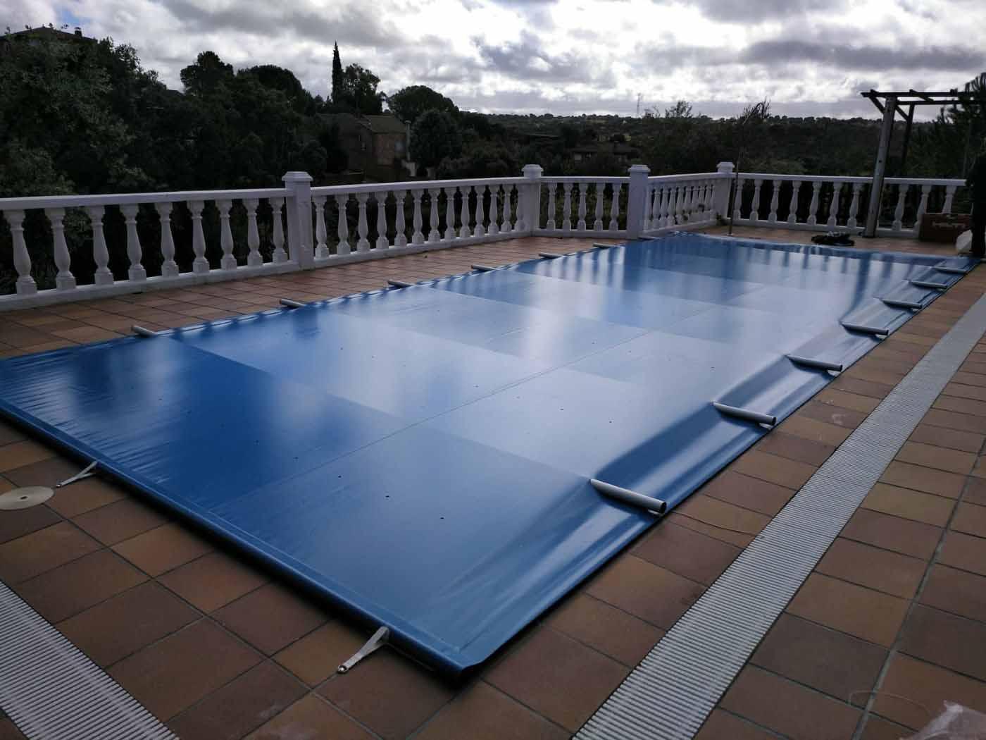 cobertor piscina de barras