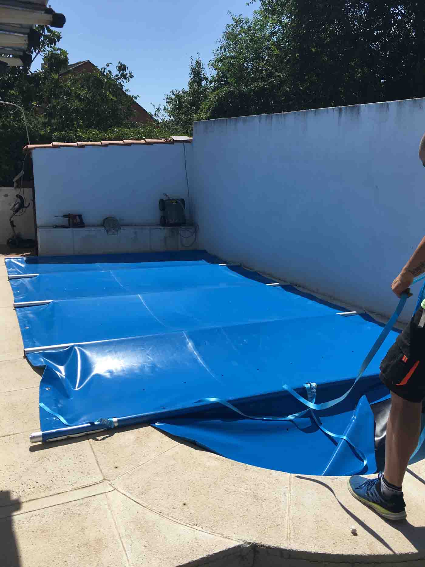 cobertor piscina redondo