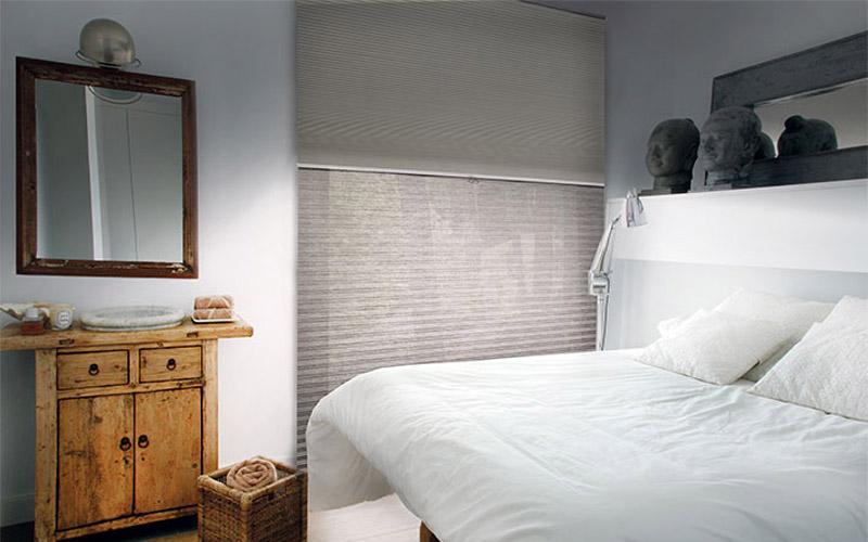 cortinas plisadas traslucidas