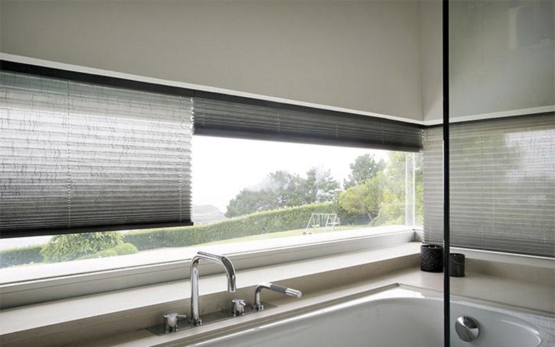 cortina plisada traslucida