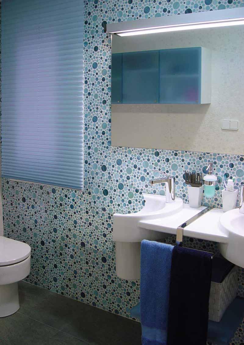 cortinas plisadas baño