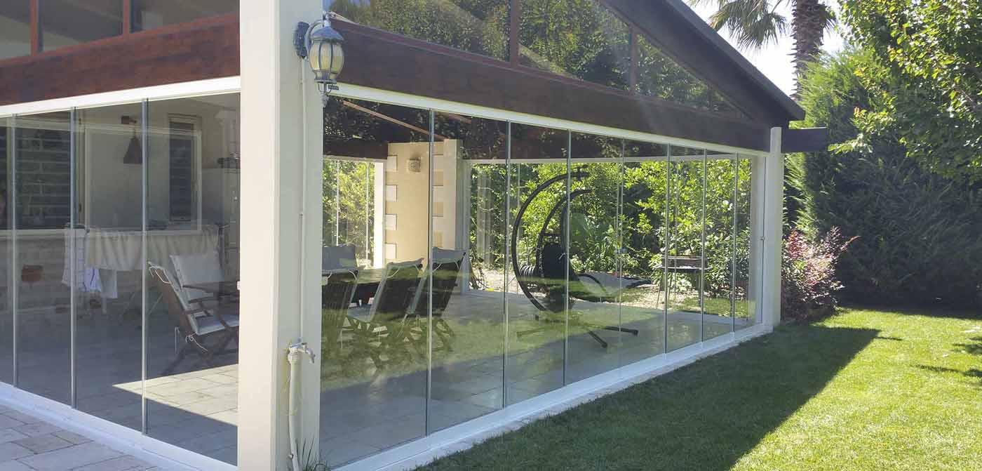 cortinas de cristal plegables