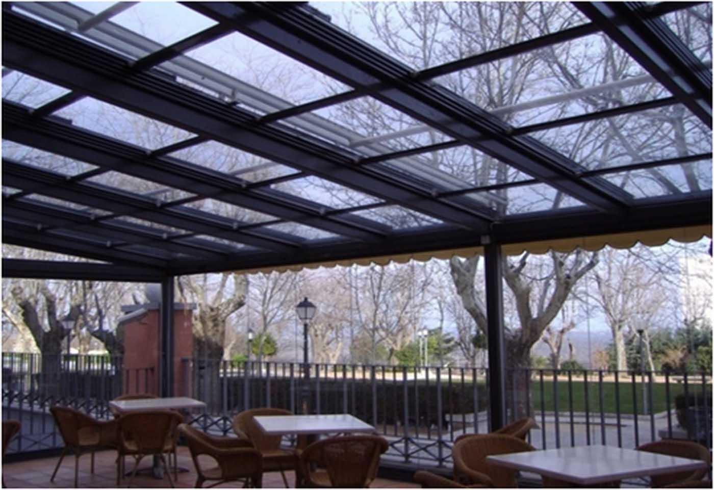 techo cristal movil