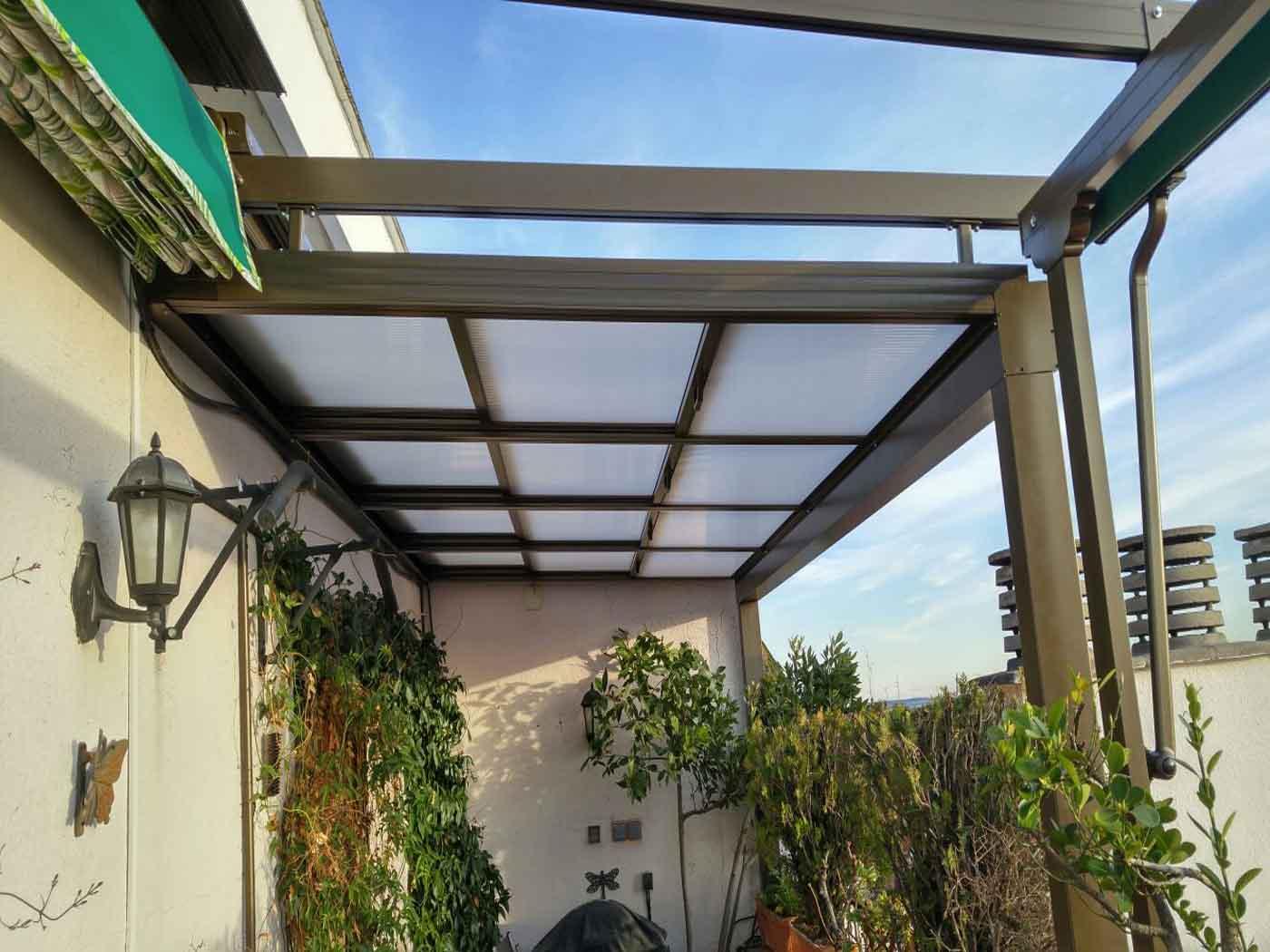 techo policarbonato traslucido