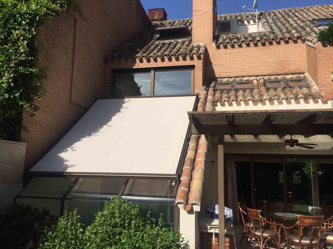 techos con toldos veranda