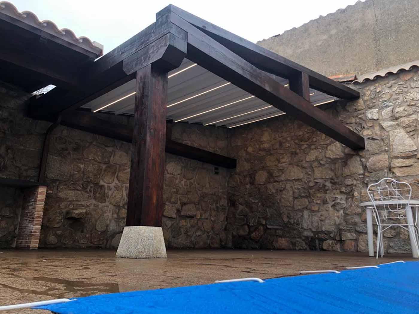 pergolas madera tejidos tensados