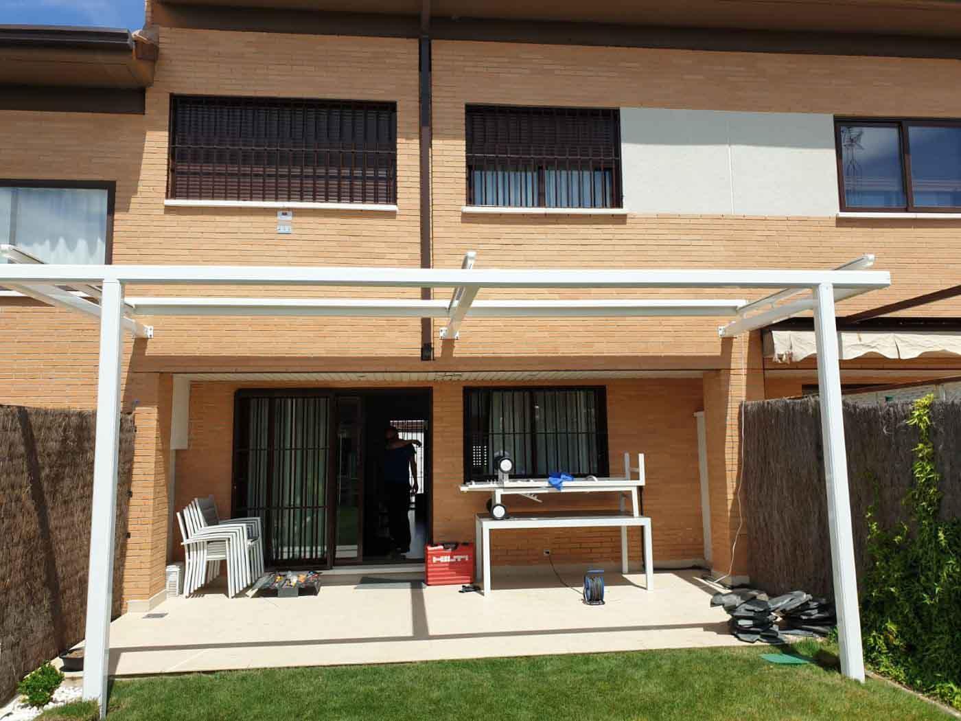 toldo veranda estructura