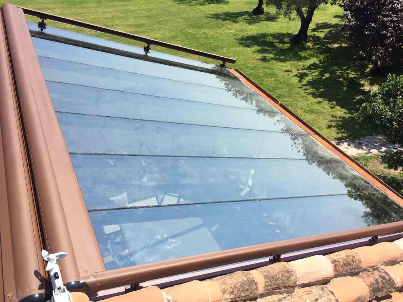 toldo techo veranda