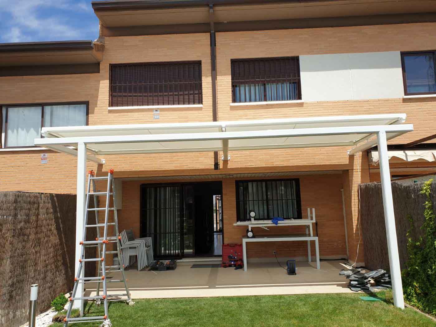 toldo veranda en estructura