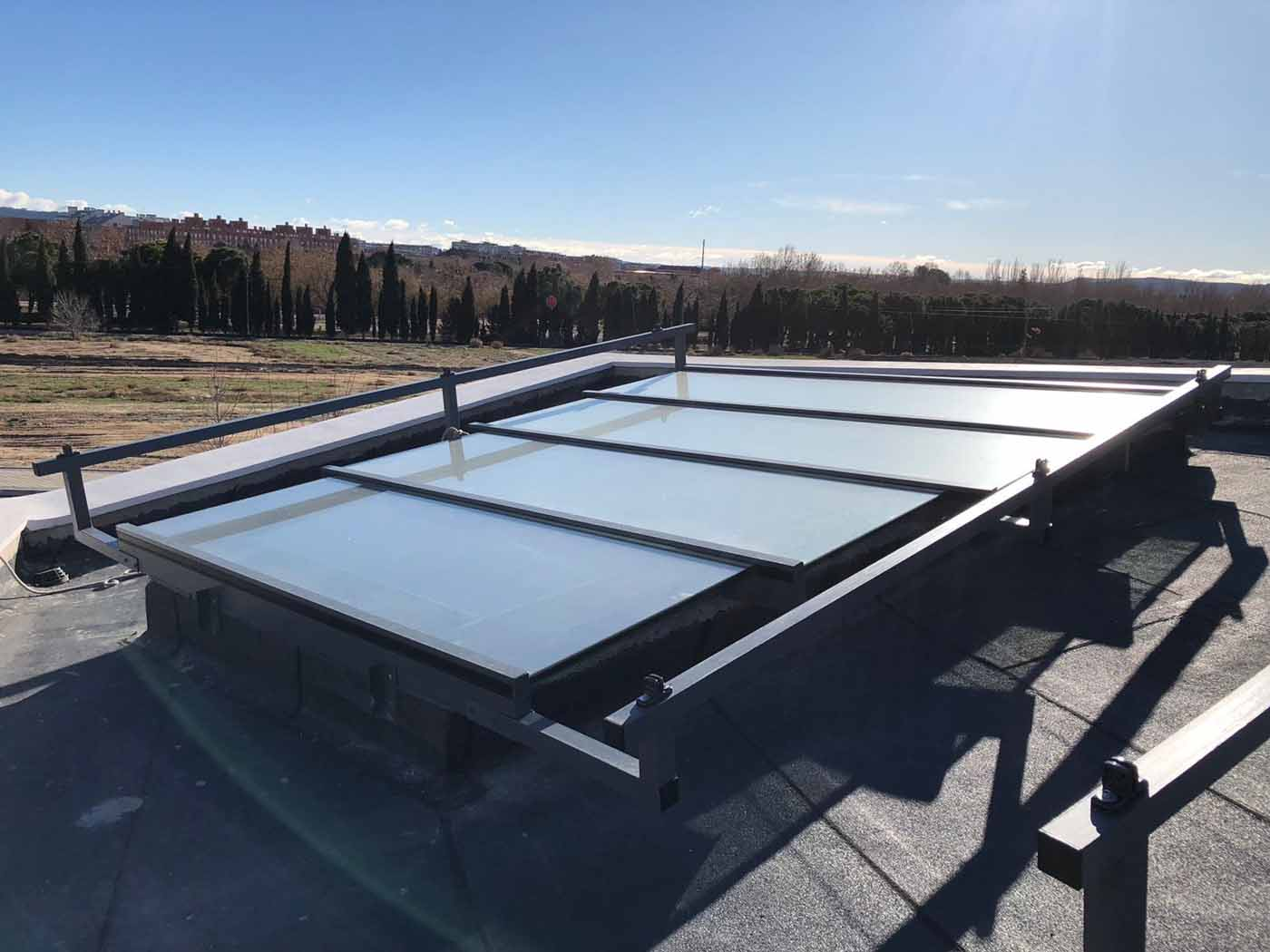 toldos veranda techos acristalados